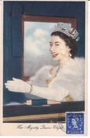 MAROC ANGLAIS Carte Maximum QUEEN Elisabeth II Yt 64 Tetuan 1954  Revenue Morocco Agencies Maximum Card Scan, Dos A Voir - Morocco Agencies / Tangier (...-1958)