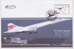 Enveloppe Timbre Avion Concorde British Airways Micronesia FDC Stamp Lot Of 2 Covers The Flight Collection Watford 2006 - Concorde