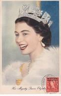 MAROC ANGLAIS Carte Maximum QUEEN Elisabeth II Yt 63 Tetuan 1954  Revenue Morocco Agencies Maximum Card Scan, Dos A Voir - Morocco Agencies / Tangier (...-1958)