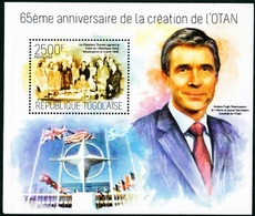 Togo, 65ème Anniversarie Creatione De L'OTAN, 2500F, 2014 - UNO