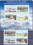 1983. Norfolk Island, 200y Of Manned Flight, 4v + S/s, Mint/** - Norfolk Island