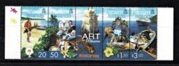 Pitcairn Islands 2001 Art - Woodcarving Strip Of 4 MNH - - Briefmarken