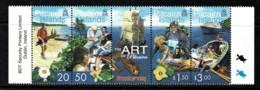 Pitcairn Islands 2001 Art - Woodcarving Strip Of 4 MNH - See Notes - Briefmarken