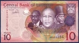 LESOTHO LESOTO 10 MALOTI P-21b THREE KINGS FLOWERS 2013 UNC - Lesotho