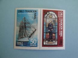 1988 Chili  Bateaux Yv 846/7 ** MNH  - Michel 1231/2  Scott 785/6   Ships - Chile