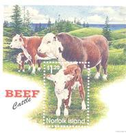 1997. Norfolk Island, Cattle,  S/s, Mint/** - Norfolk Island