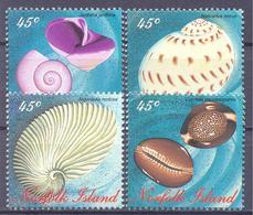 1996. Norfolk Island, Marine Life, Mollusques, 4v, Mint/** - Norfolk Island