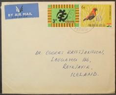 Ghana - Cover To Iceland 1964 Gye Nyame Bird Kumasi - Ghana (1957-...)