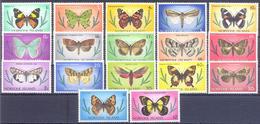 1976. Norfolk Island, Butterflies, 17v, Mint/** - Norfolk Island