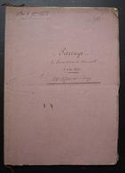 1823 Ferme De Mermont Crépy En Valois Oise Partage De Terres, 48 Pages - Manuscritos
