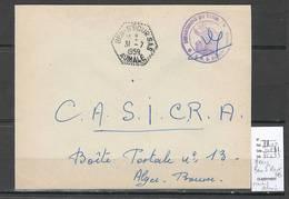 Algerie - Lettre  - Cachet Hexagonal BEN S'ROUR  SAS -  Marcophilie - Briefe U. Dokumente