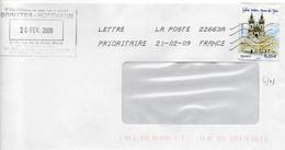 N° 4303 Y. Et T. Oblitération Toshiba TSC 1000 22663A (Creil PDC1) Flamme Muette Du 21/02/2009 - 1961-....