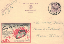 """Publibel 841 - """"Messer Schere Licht......"""" -  Sicherheit - Bügeleisen Hitze Flamme Flammpunkt - Gouvy 1949 - Entiers Postaux"""