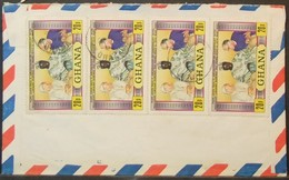 Ghana - Multifranking Cover To England 1981 Pope - Ghana (1957-...)