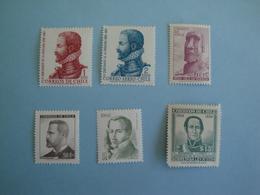 Chili  Lot De 6 Timbres Yv 258 - 307 - 315 - 376 - PA 277 - 457 ** MNH  - N° Michel Scott Et SG Voir Descriptif - Chile