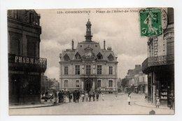 - CPA COMMENTRY (03) - Place De L'Hôtel-de-Ville 1913 (belle Animation) - Edition Chaumont 118 - - Commentry