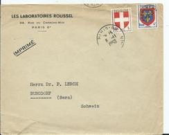 PREOBLITERE - AFFRANCH. COMPOSÉ -TYPE BLASON + TYPE BLASON USAGE COURANT Combinaison Pas Courante - Postmark Collection (Covers)