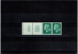 VARIETE - MARIANNE DE CHEFFER 30c VERT PAIRE AVEC GUILLOCHIS ** Y/T N°1536A - Curiosités: 1960-69 Neufs
