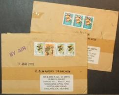 Ghana - Cover Lot (2) To England 2000 - 2001 Butterflies - Ghana (1957-...)