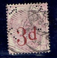 TP GRANDE BRETAGNE N° 74 - OBLITERE - - 1840-1901 (Victoria)