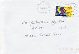 N° 4318 Adh Y. Et T. Vienne Poitiers CDIS Flamme Muette Du 26/12/2008 - Marcofilia (sobres)