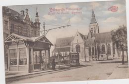 Vilvoorde - Kerk + Tram (gelopen Kaart Met Zegel) - Vilvoorde