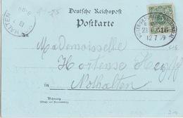 CP Gruss (aus Triembach) Obl Ambulant (Weiler-Schlettsd-Weilerthal, Zug 616) Sur TP 5pf Le 12/7/99 Pour Nothalten - Railway Post