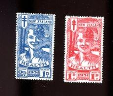 Nouvelle Zélande 1931-Anti Tuberculeux-YT 188/9***MNH-RARE Dans Cette Qualité - Unused Stamps