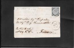 Pisa 1865,15 Ct Ferro Di Cavallo (n°25) Su Lettera Per Firenze( Ref 4061) - Marcofilía