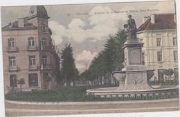 Vilvoorde - Standbeeld Portaels En Stationslaan Vanaf Station Gezien (gelopen Kaart Met Zegel) - Vilvoorde