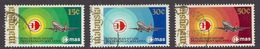 Malesia - 1973 Malaysian Airline System, Transport, Airplanes, Avion - (Complete Set Of 3) Used - Malasia (1964-...)