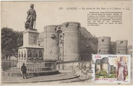 Carte-Maximum FRANCE N° Yvert 4326 (ANGERS - Château Et Roi René) Obl Sp Ill Château Sur Trés Belle Carte Anc Pt Ft RR - Cartas Máxima