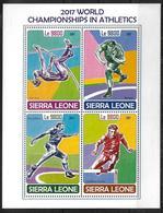 SIERRA LEONE  Feuillet  N° 7389/92  * *  ( Cote 19e )  Saut A La Perche Lancer Du Poids Disque Course De Haies - Atletismo