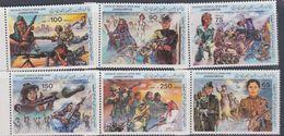Libye N° 1210 / 15 XX 14è Anniversaire De La Révolution Du 1er Septembre Les 6 Valeurs Sans Charnière, TB - Libyen