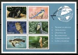 Angola 1999 / Birds Mammals Turtle MNH Mamiferos Aves Tortuga Vögel Säugetiere / Cu16527  30-41 - Pájaros