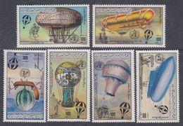 Libye N° 1226 / 31 XX Bicentenaire Des 1ères Ascensions Dans L'atmosphère Les 6 Valeurs Sans Charnière, TB - Libyen