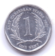EAST CARIBBEAN STATES 2011: 1 Cent, KM 34 - East Caribbean States