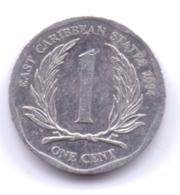 EAST CARIBBEAN STATES 2004: 1 Cent, KM 34 - Caraïbes Orientales (Etats Des)