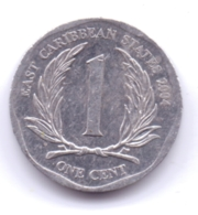 EAST CARIBBEAN STATES 2004: 1 Cent, KM 34 - Caribe Oriental (Estados Del)