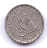 BRITISH CARIBBEAN TERRITORIES 1965: 10 Cents, KM 5 - Caribe Oriental (Estados Del)