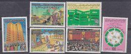 """Libye N° 1197 / 02 XX Autorité Populaire """" Le L/ivre Vert"""" Les 6 Valeurs Sans Charnière, TB - Libyen"""