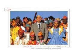 MATOURY - Le Président Jacques Chirac Chante La Marseillaise En Compagnie De Militants Guyanais - Politique - Cayenne - Autres