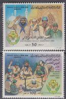 Libye N° 1216 / 17 XX 15è Jamboree Panarabe  Les 2 Valeurs  Sans Charnière, TB - Libyen