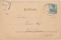 CP (Fröhliche) Obl Ambulant (Weissenburg-Lauterburg, Zug 2648) Sur TP 5pf Le 30/5/03 Pour L'Alsace - Railway Post