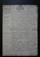 1731 Ferme De Mermont Crépy En Valois Oise Bail De 36 Pages De François Darraine (Compiègne Senlis)  Pour Antoine Sevin - Manuscritos