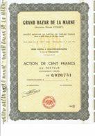 51-GRAND BAZAR DE LA MARNE. Anc Maison PITOISET. CHALONS Sur MARNE. 1968 - Actions & Titres