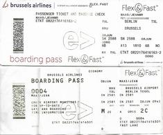 Brussels Airlines - Bruxelles - Berlin - Bruxelles - Cartes D'embarquement