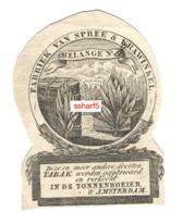 TABAK Tobacco TABAGISME Netherlands C. 1830 Fabriek Van Spree & Krawinkel TONNENBOEIER AMSTERDAM Vignet Prent HOLLAND - Publicités