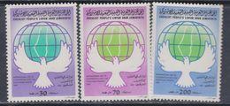 Libye N° 1233A / C XX Solidarité Avec Le Peuple Palestinien, Les 3 Valeurs Sans Charnière, TB - Libyen