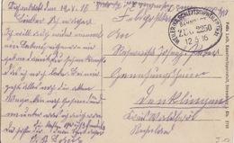 CP (Wanzel) Obl Ambulant (Weiler Kr.Schlettst.-Weilerthal, Zug 2250) En Franchise Le 12/5/16 Pour Klingen - Railway Post